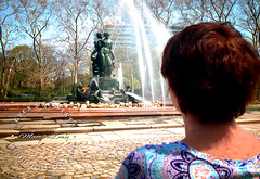 Don't just envision the future... (SevenOneSeven MamboDan) Tags: grandarmyplaza brooklynnyc parkslope waterfountain baileystatuefountain monthofmay