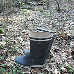 162 - AIGLE Wellworn Wellies filled with mud ( Rubberboots Gummistiefel Laarzen thumbnail