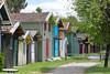 Port de Biganos, Aquitaine, France (Thierry Hoppe) Tags: portdebiganos france bassin arcachon darcachon gironde port cabanes cabin cabins colour color colorful colourful wood wooden aquitaine