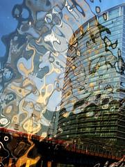Tuesday (Darryl Scot-Walker) Tags: london docklands city urban building architecture publictransport dlr multipleexposure fujifilmx100t