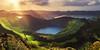 Colors of Earth (030mm-photography) Tags: rot azores azoren reise travel portugal saomiguel setecidades landscape landschaft nature natur panorama sunset sonnenuntergang green fields grün wiese sun sonne light licht