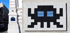 Space invader [Paris 17e] (biphop) Tags: europe france paris streetart space invader spaceinvader mur wall installation mosaic mosaique 75017 pa475 reactivated reactivation restored restauré