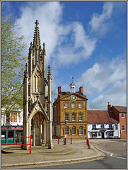 The Usual Daventry Scene......... (Jason 87030) Tags: daventry town centre northants northamptonshire burtonemorial moothall pun plume feathers plumeoffeathers| buddies uk market england weather portrait scene popular ghost noone nobody deserted architecture