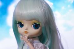 Ploy! (Pliash) Tags: dal doll cute kawaii pullip cinnamoroll lolita unicorn pastel dress flowers blue hair