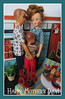 5. Happy Mother's Day! (Foxy Belle) Tags: doll tammy family mothers day sons childrem dollhouse patio outside plants mother mom ideal vintage house retro diorama scene