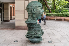 "THE SCULPTURE ""ECO"" BY MARK DIDOU [OUTSIDE THE NEW LIBRARY AT QUEEN'S UNIVERSITY IN BELFAST - MAY 2018]-139875 (infomatique) Tags: publicart sculpture queensuniversity centenaryofqueens michettiprize mriscanning williammurphy infomatique fotonique streetsofbelfast streetsofireland uk northernireland sony a7riii"