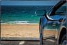 Zuma Beach, Malibu. (drpeterrath) Tags: canon eos5dsr 5dsr dailyvisual color seascape beach ocean water sun sky car lambo lamborghini reflection travel outdoor losangeles malibu zuma california