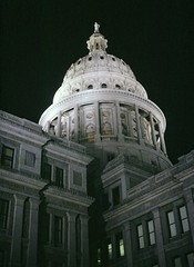Texas State Capitol (By Night) (PDX Bailey) Tags: analog slide film austin texas state capitol available light night dark