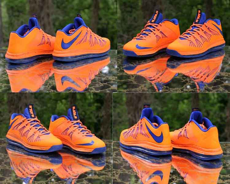 the latest f5aec 92263 Nike Air Max LeBron X Low Bright Citrus Hyper Blue 579765-800 Men s Size 12