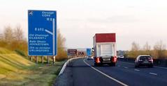 The road goes both ways (A guy called John) Tags: motorway road m8 m7 cork dublin ireland moving back new job city cars traffic sign irish transport freeway