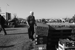 Fruit stall (joe_barton17) Tags: canon canon70d 1116mm tokina1116mm tokina british blackandwhite b monochrome people humans humanistic photojournalism journalism documentary realism streetphotography street carboot car boot britishculture culture ethnicity composition