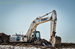Just Digging It (13skies) Tags: excavator white construction constructionequipment bucket digging working holes moving earthmovers sitting hydraulics machine mounds hills sony