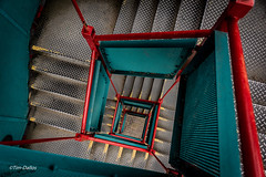 Candy Drop (Tim-Dallos) Tags: manchetser spiral spiralstairs d750 vivid colour color stairwell steps urban architecture
