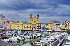 87 - Bastia le Vieux Port et l'église Saint-Jean Baptiste (paspog) Tags: bastia port haven hafen vieuxport mai may 2018 églisesaintjeanbaptiste église kirche church