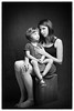 Mother and daughter ... conspiracy (whootzs) Tags: fujix100t monochrome portraits family daughter mother spouse cactusrf60x phottixoctaumbrella122cm rogueflashbenderlarge wool blanket backdrop roguegrid
