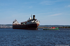 Clearing Barker's Island (tubaman21) Tags: americanvictory middletown neshanic algomacentralmarine algoma marine americansteamship