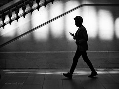 The Commuter (CVerwaal) Tags: blackandwhite grandcentral silhouettes newyork ny usa olympusem5 mzuiko25mmf18