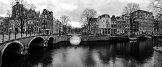 Panorama Prinsengracht  - Reguliersgracht  @ Amsterdam