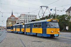 Leipzig, Willy-Brandt-Platz 06.10.2016 (The STB) Tags: tram tramway strassenbahn strasenbahn publictransport citytransport öpnv germany deutschland tatrawagen