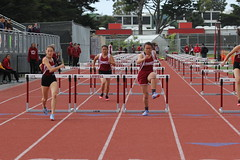IMG_8278 (susanw210) Tags: track running trackandfield teamwork atheletes students highschool team jumping hurdles lowell cardinals highschoolsports