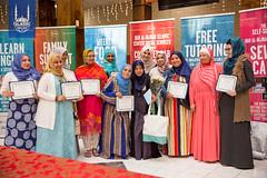 Graduates of Dar Al Hijrah's 9th semester of sewing academy