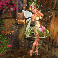 Bring Life to Death (JewelOfDeNiel MV♛USA 2015) Tags: irrisistible shop event swank spring rose flower costume fancy sl secondlife second life women mesh gown outfit clothes fashion maitreya belleza slink hourglass appliers system wild leaves corset fantasy