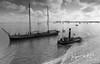 Manna en de Adelaar in Zwart wit (Gooi en Eemland van Boven by Jacques de Kort) Tags: clipper steam tugboat