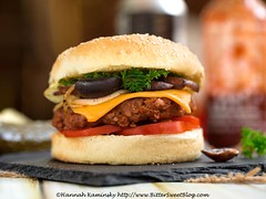 Tofurky DIY Burger - Built (Bitter-Sweet-) Tags: vegan vegetarian meatless tofurky beef burger ground crumbles diy meaty savory protein healthy hearty classic american comfortfood cooking recipe dinner entree