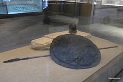 Aiani Museum, Bronze shield cover, (1).JPG (tobeytravels) Tags: macedon macedonia alexanderthegreat alexandrthe3rd votive gravegoods hoplite