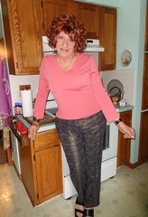 My Duties As A Housewife . . . (Laurette Victoria) Tags: housewife laurette woman kitchen leggings sweater redhead curly