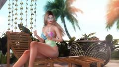 Who shall i invite to the Summer Party? (desiredarkrose) Tags: {vision} dahlia astralia beach summer swimsuit blonde sunglasses decor sldecor slblog blog virtualphotography virtualfashion virtualworld avatar rama amias luanespose