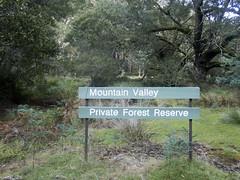 Reserve sign (Baractus) Tags: john oates mountainvalley tasmania australia inala nature tours