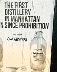 """the first distillery in Manhattan since prohibition"". our vodka by our/new york 