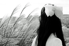That Natural Feeling (coollessons2004) Tags: nature natural woman beauty beautiful bow blackandwhite