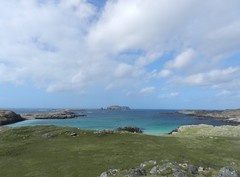 Bostadh Bay View, Great Bernera, April 2018 (allanmaciver) Tags: bostadh bay great bernera outer hebrides western isles clouds blue sea height view islands small allanmaciver