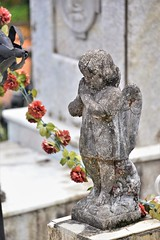Angel (Ctuna8162) Tags: mexico cuetzalen cemetery flowers easter santasemana statues religion