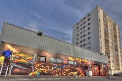 Boxing graff 01 (BzhPaco) Tags: graff graffiti arts urban color lanester bretagne morbihan urbanarts bzh breizh hdr