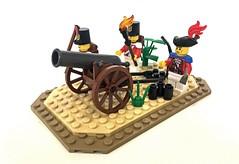 Redcoat Canon Troop (Tijah_Bricks) Tags: lego pirates sodlier redcoats redcoat canon troop squad instruction