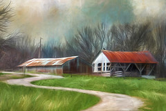 A Winding Road (David DeCamp) Tags: rural barn building road nostalgia