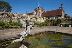 Relax in the garden at Ightham Mote.. (Adam Swaine) Tags: ighthammote gardens walledgarden nationaltrust ponds historicalbuildings kent canon britain british uk ukcounties kentweald beautiful buildings southeast england english statues