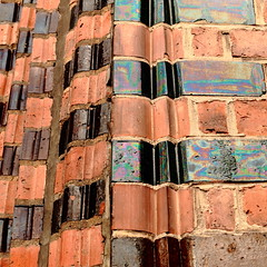 decorative (vertblu) Tags: brickwork bricks redbrickwork glazedbricks glazed redbrickgothic horizontal vertical facade texture textur texturesquared textures pattern patterns patterned detail redbrown brown iridescent vertblu bsquare 500x500 kwadrat ornate abstractfeel almostabstract edge corner graphical graphic geometric geometrical geometry architecture abstractarchitecture