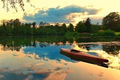 The lonely Canoe (adifox) Tags: canoe boat d7500 2470 sunset lake tamron nikon