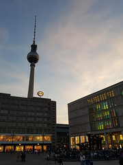 TV tower, Berlin (DJLeekee) Tags: tvtower berlin germany concrete structure tallest europe ball sky city east west restaurant