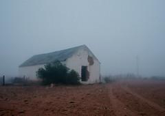 Barn on a Misty Morning (Semjaja) Tags: barn building ruraldecay nikonf90x nikon nikkor 28105mm kodak kodakektar100 ektar ektar100 35mm 35mmcamera slr film filmlives filmsnotdead filmphotography ishootfilm shootfilm graafwater southafrica