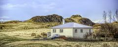 From Iceland. (Tóta. 27.12.1964.) Tags: from iceland house country grass sky ísland borgarfjörður