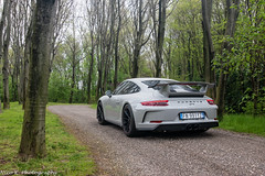 Chalk 991 GT3 MkII (Nico K. Photography) Tags: porsche 991 gt3 mkii chalk kreide grey supercars wood rain wet nicokphotography carscoffee italy