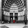 The Beggars And The Priest (Abdalis_3k60) Tags: cathedral cologne germany nikon monochrome selective red priest beggars chrurch street