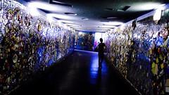 kaleidoscope (simone.pelatti) Tags: kaleidoscope mosaic siluette color blue light contrast tunnel underground confusion