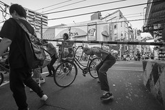 HERE COMES THE TRAIN (ajpscs) Tags: ajpscs japan nippon 日本 japanese 東京 tokyo city people ニコン nikon d750 tokyostreetphotography streetphotography street seasonchange spring haru はる 春 2018 shitamachi monochromatic grayscale monokuro blackwhite blkwht bw blancoynegro urbanlife blackandwhite monochrome alley othersideoftokyo strangers walksoflife urban herecomesthetrain
