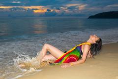 Kata Noi beach, Katathani resort (Phuketian.S) Tags: portrate sea ocean color beach phuket girl people katathani woman portrait sunset cloud women sky thailand wave boy water landscape night beauty